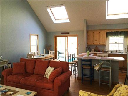Eastham Cape Cod vacation rental - Large open living area with skylights