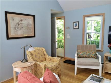 Eastham Cape Cod vacation rental - Living area with comfortable chairs