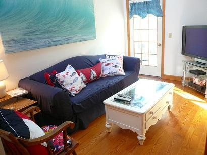 Truro Cape Cod vacation rental - Living Area in Apartment with two full Bathrooms