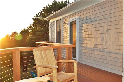 Truro Cape Cod vacation rental - Relaxing deck with great views
