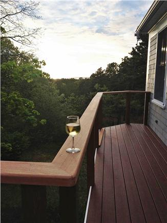 Truro Cape Cod vacation rental - Enjoy a glass of wine while taking in the view