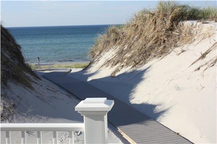 Dennis Cape Cod vacation rental - The Boardwalk To the Private Beach As Viewed from the Rear Deck