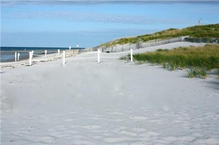 Dennis Cape Cod vacation rental - The 110 Foot Wide Private Beach Fully Roped Off