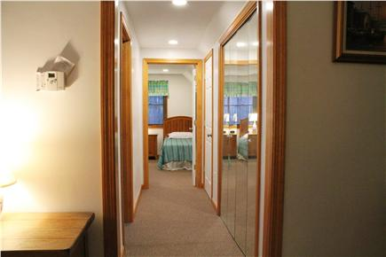 South Chatham Cape Cod vacation rental - Hallway from Master Suite to Twin Bedroom (12 ft long)