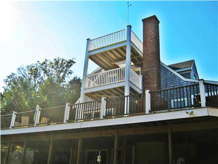 South Chatham Cape Cod vacation rental - View of Decks from Ground