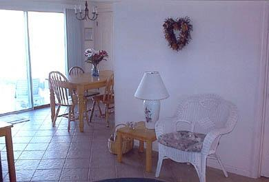 Dennis Port Cape Cod vacation rental - Living Room into Dining Area