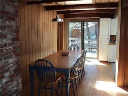 Wellfleet Cape Cod vacation rental - Dining room table seats 10, sliders to deck