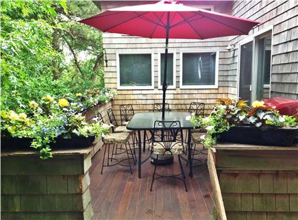 Pocasset, Bourne, Cape Cod Cape Cod vacation rental - Quiet side deck, perfect for morning coffee or afternoon rest