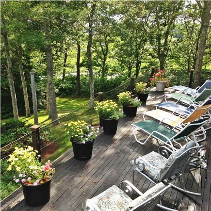 Pocasset, Bourne, Cape Cod Cape Cod vacation rental - Safety fencing on deck.  watch the kids in water from deck!