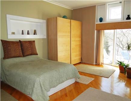 Pocasset, Bourne, Cape Cod Cape Cod vacation rental - Master bed, 3 sliders of views and direct hot tub access