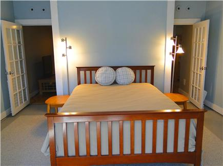 Pocasset, Bourne, Cape Cod Cape Cod vacation rental - Bedroom with queen bed and 12' ceilings. A great night's sleep