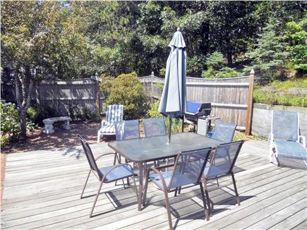 Chatham Cape Cod vacation rental - Deck and patio,sun and shade,completely fenced in.