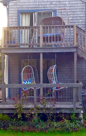 Eastham Cape Cod vacation rental - North decks with swings