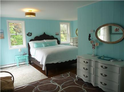 Eastham Cape Cod vacation rental - Master Bedroom (king, 2nd floor), with balcony with a porch swing