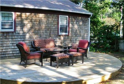 Harwich Cape Cod vacation rental - Shady relaxing back deck