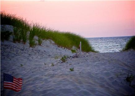 Bay side of Dennis Cape Cod vacation rental - Path to the private beach