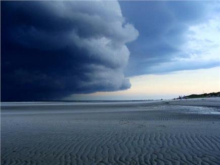 Bay side of Dennis Cape Cod vacation rental - Storm rolling in late Sept 2013