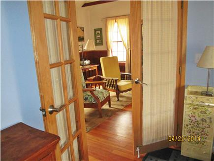 Wellfleet Cape Cod vacation rental - A peak into the living area from the bedroom