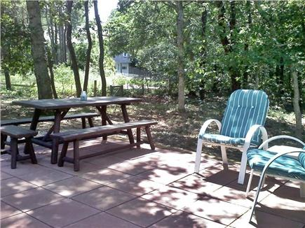 North Eastham Cape Cod vacation rental - Back Patio from kitchen entrance