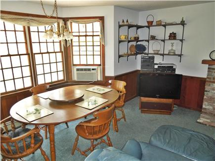 North Eastham Cape Cod vacation rental - Dining table with bay window