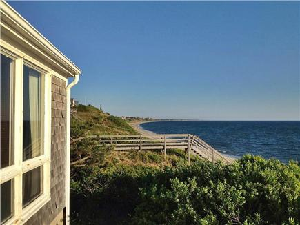 North Truro Cape Cod vacation rental - View towards Truro and Wellfleet from the living room deck.