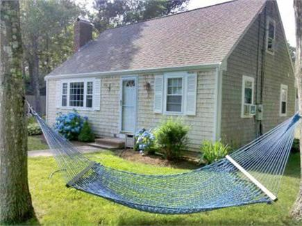 Dennis Cape Cod vacation rental - Front yard with extra large hammock