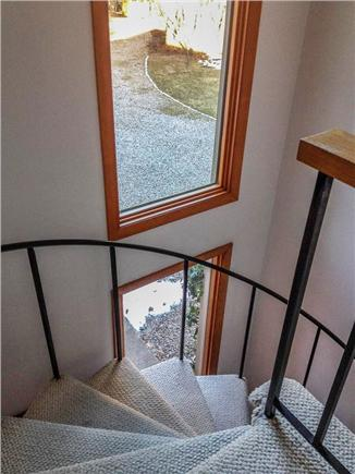 West Brewster Cape Cod vacation rental - Spiral stairs to bedrooms