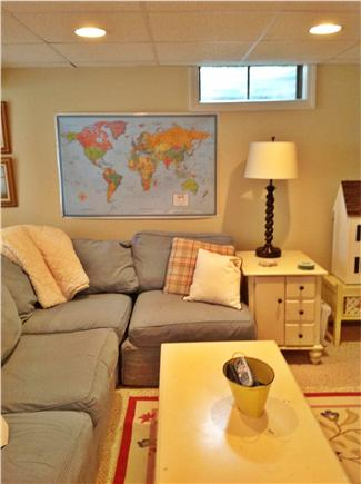 Osterville Osterville vacation rental - Lower level family area opens to back yard cable tv DVD player
