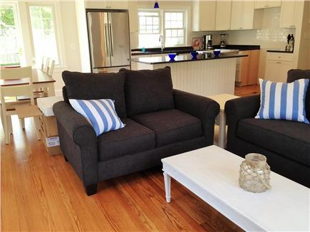 Downtown Falmouth Cape Cod vacation rental - Cozy living room with new furnishings