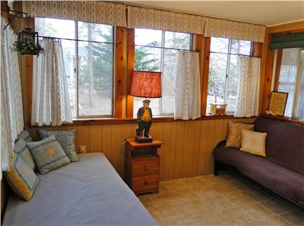 Brewster Cape Cod vacation rental - Great back porch, best for afternoon relaxing, futon bed