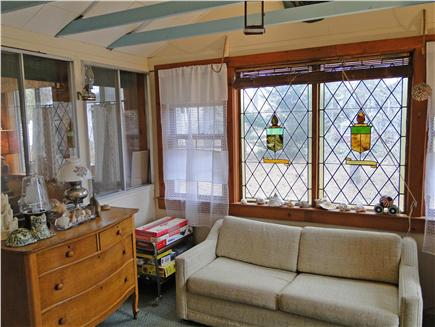 Brewster Cape Cod vacation rental - Front porch area, full of games for kids
