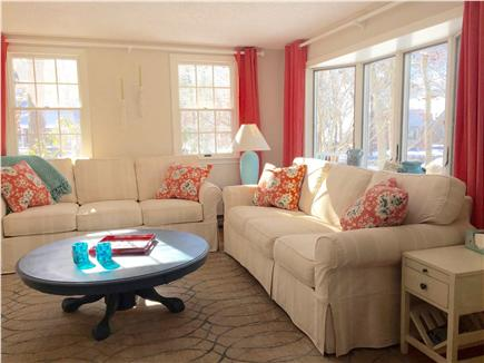 Eastham Cape Cod vacation rental - Bright living room with new furniture and flat screen TV
