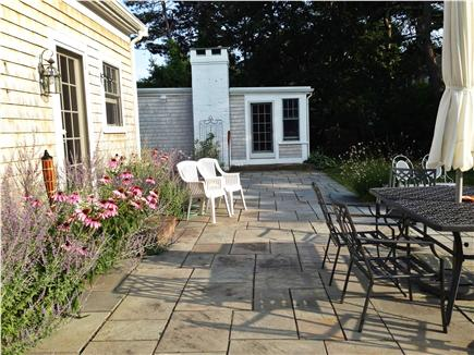 Yarmouth Cape Cod vacation rental - Patio set w/umbrella, access to patio from kitchen+family rm