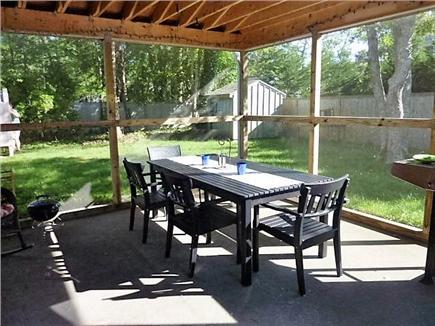 Hyannis, Craigville Cape Cod vacation rental - Attached screened patio with lighting and fan