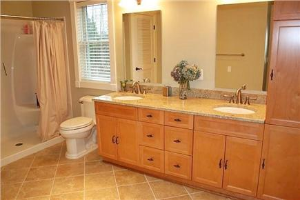 Orleans Cape Cod vacation rental - Master bathroom with granite countertops