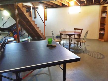 Brewster Cape Cod vacation rental - Game space in clean, dry basement.ping pong, basketball, fooz bal