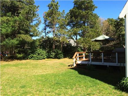 Brewster Cape Cod vacation rental - Private, spacious yard with deck.