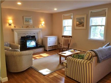 Brewster Cape Cod vacation rental - Sunny Living room that opens from kitchen.