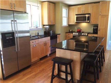 Brewster Cape Cod vacation rental - Modern stainless steel, granite kitchen with great storage.