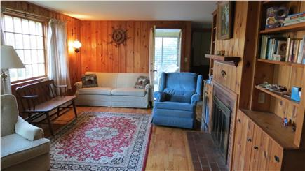 West Chatham Cape Cod vacation rental - Living Room with Fire Place and sofa bed