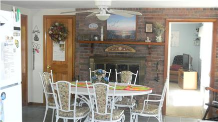 Bass River South Yarmouth Cape Cod vacation rental - Eat in kitchen and fireplace