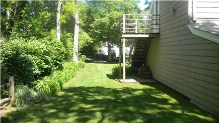 Bass River South Yarmouth Cape Cod vacation rental - Side yard, entrance to studio apartment