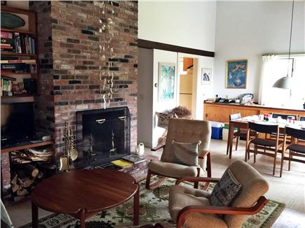 Truro Cape Cod vacation rental - An artistic fireplace adds charm