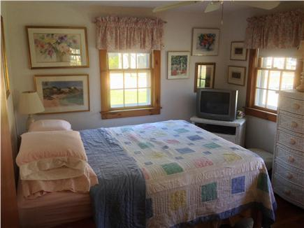 South yarmouth Cape Cod vacation rental - Master bedroom, 3 windows, ceiling fan