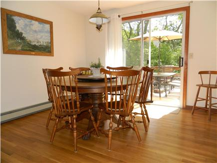 Brewster Cape Cod vacation rental - Dine with family overlooking deck and backyard.