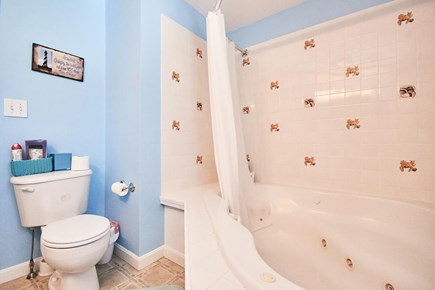 Onset MA vacation rental - Bathroom with Jacuzzi tub.