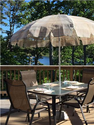 Eastham Cape Cod vacation rental - Dining alfresco on the pond