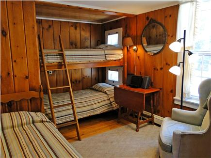 South Chatham Cape Cod vacation rental - Twin bedroom sleeps 3 with bunk bed