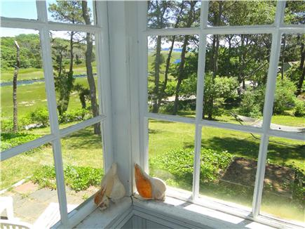 South Chatham Cape Cod vacation rental - View of water from living room, porch