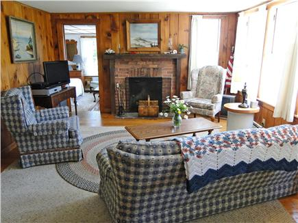 South Chatham Cape Cod vacation rental - Living room with flat screen TV